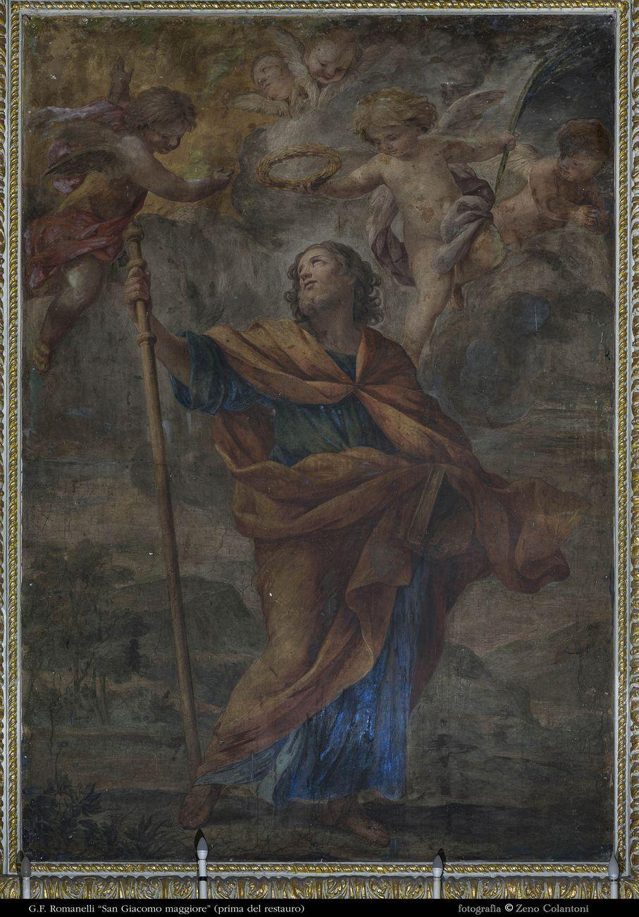 Francesco Romanelli, San Giacomo il Maggiore. Chiesa di San Giacomo alla Lungara, Roma. Prima del restauro. Photo © Zeno Colantoni