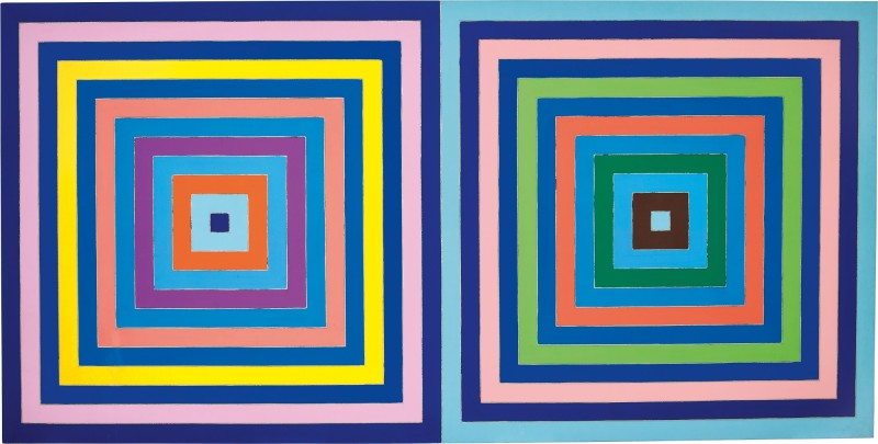 Frank Stella Untitled (Double Concentric Square) (1978) Courtesy of Sotheby's