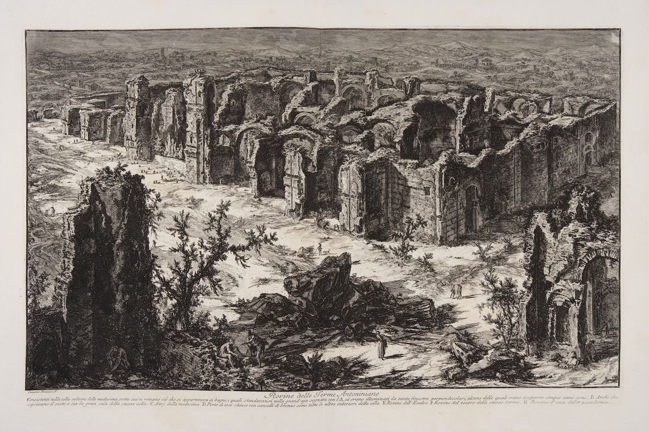 Giambattista Piranesi, Terme di Caracalla. Courtesy Fondazione Giorgio Cini
