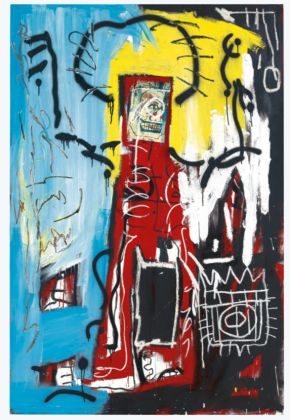 Jean Michel Basquiat Untitled (One Eyed Man or Xerox Face (1982) Courtesy of Christie's Images Ltd 2021