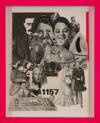 KINGS, 1157, 2021, collage su carta, cm 38,9x30,7. Courtesy Viasaterna Gallery