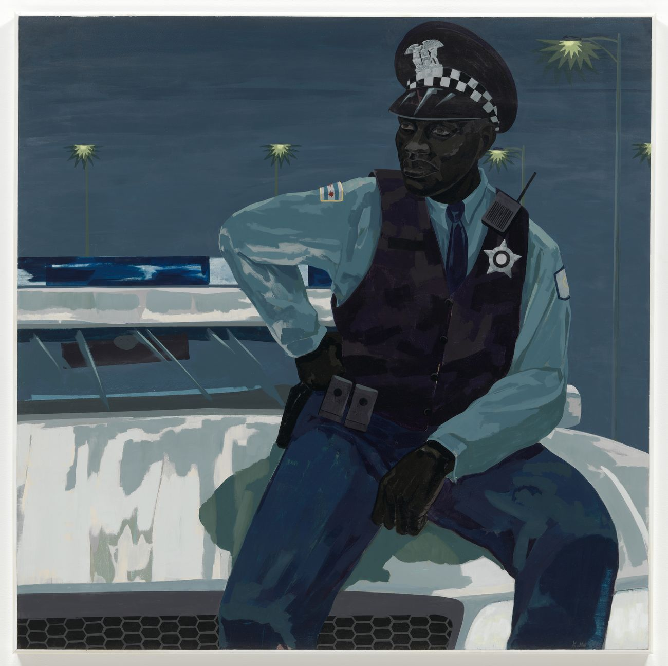 Kerry James Marshall, Untitled (policeman), 2015. Museum of Modern Art © Kerry James Marshall. Courtesy the artist & Jack Shainman Gallery, New York