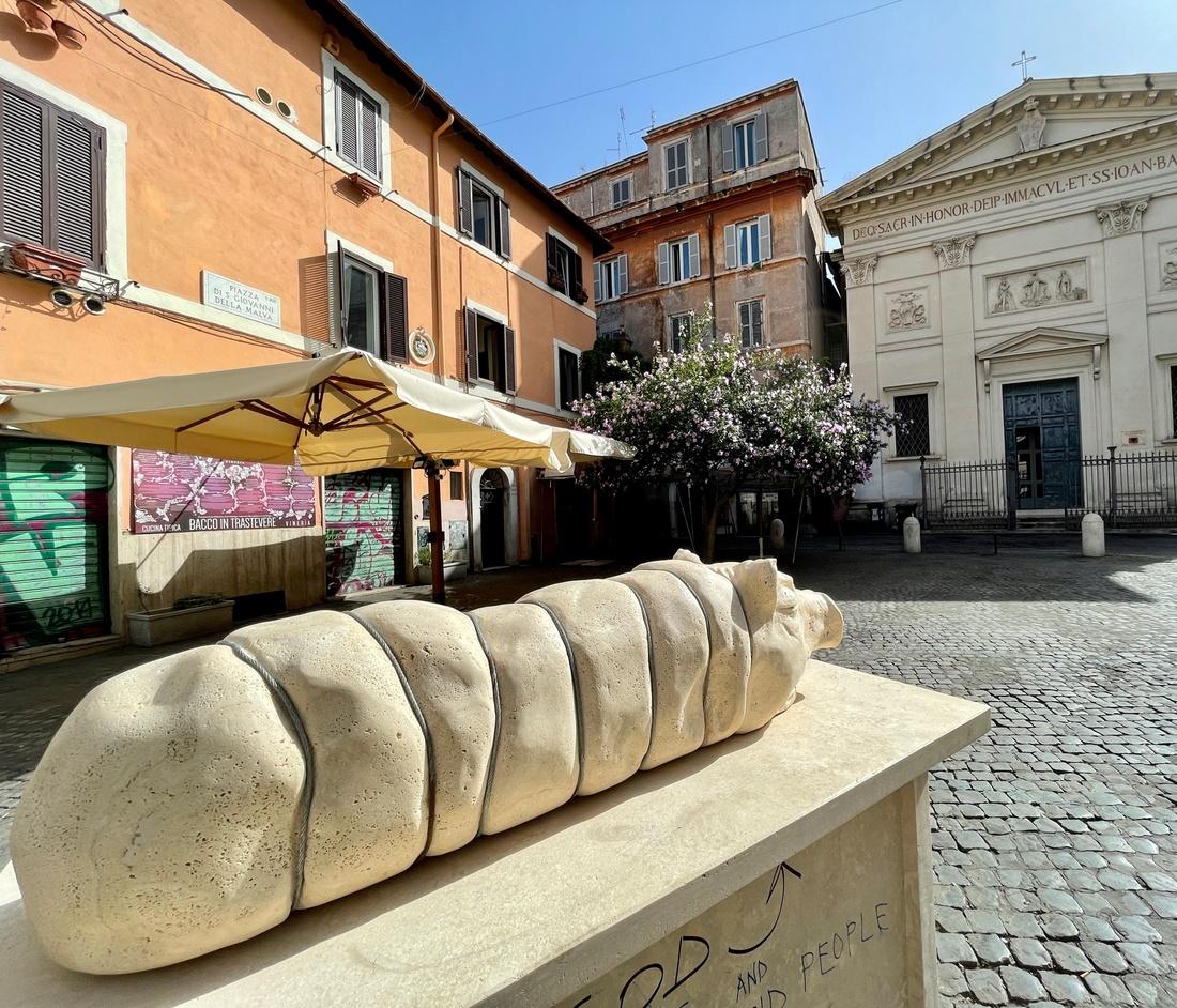 Le sculture pubbliche del progetto Piazze Romane a Roma