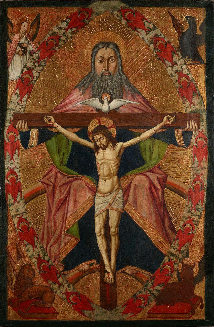 Maestro di Castelsardo, La Trinità. Courtesy Diocesi di Tempio – Ampurias Sistema Museale Diocesano. Photo Giuseppe Ortu