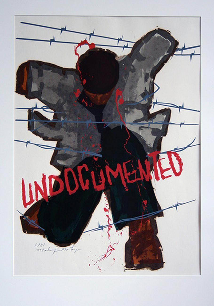 Malaquias Montoya, Undocumented, 1981, serigrafia. Washington D.C., Smithsonian American Art Museum. Courtesy l'artista
