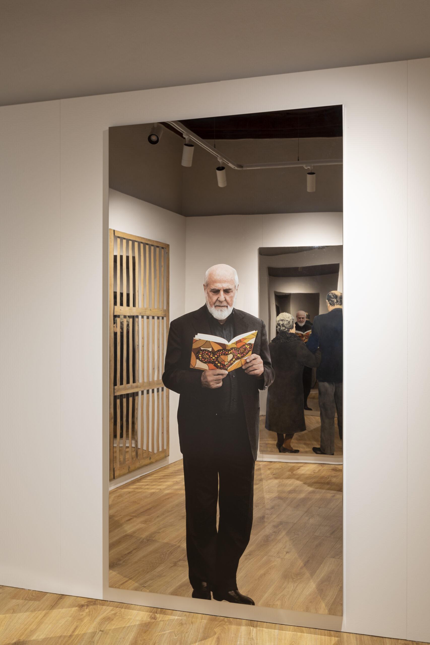 Michelangelo Pistoletto. Exhibition view at Museo Comunale d'Arte Moderna, Ascona 2021. Photo Alexandre Zveiger