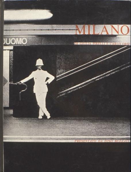 Milano, Dino Buzzati, ph Carlo Orsi, cover