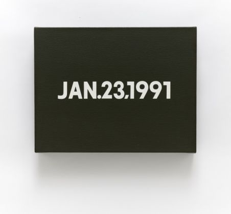 On Kawara, Jan.23,1991, from Today series No. 1 (1991) Courtesy of Sotheby's