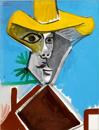 Pablo Picasso Buste d'homme (1969) Courtesy of Sothbey's