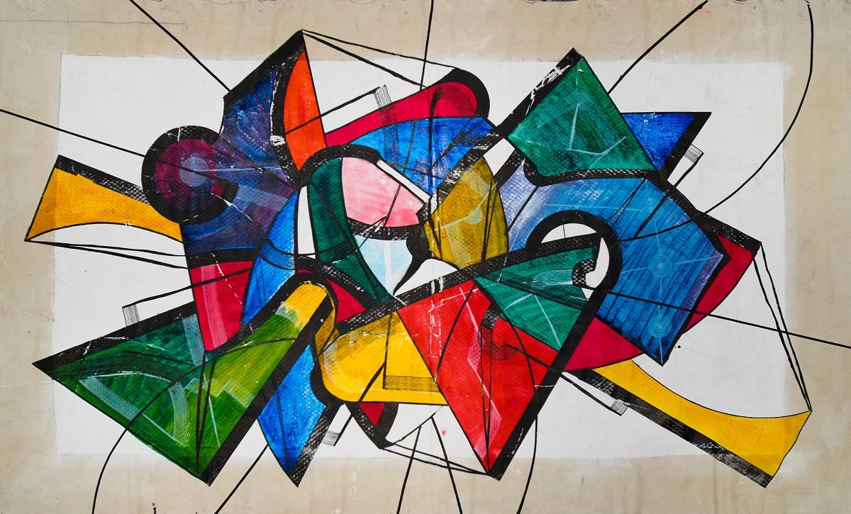 Paris Gallery Weekend, Pijama Gallery VAULTMAN, Big Sketch, Peinture sur toile