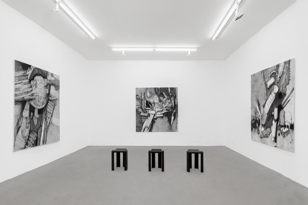 Paris Gallery Weekend, Rabouain Moussian Vue de l'exposition, Kirill CHELUSHKIN _Indéfinissable © Romain Darnaud