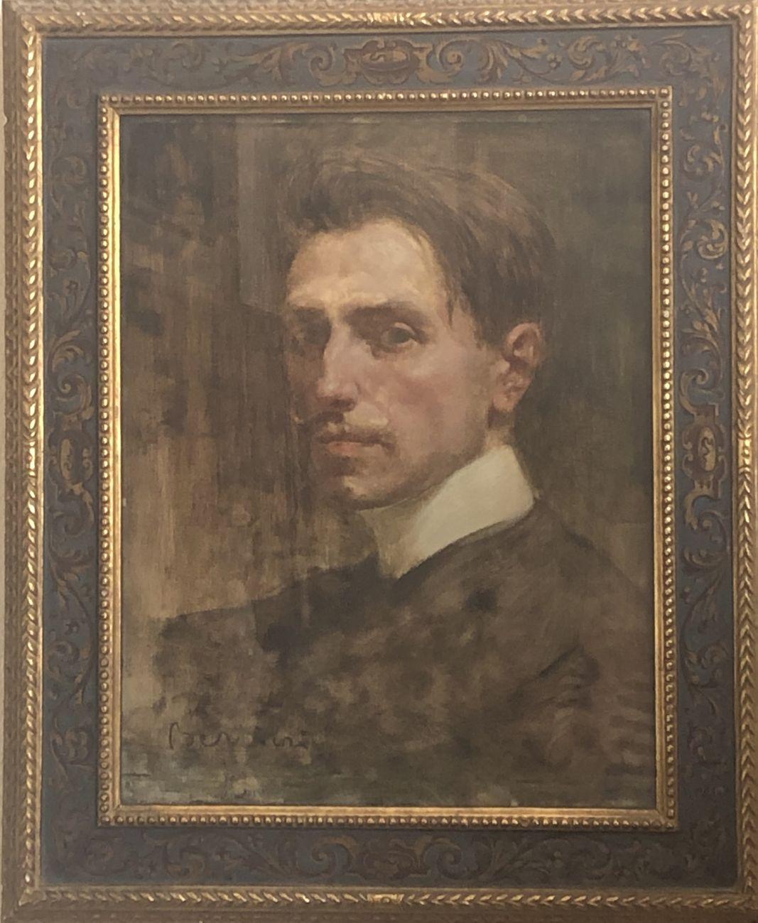 Pilade Bertieri, Autoritratto, 1901, olio su tela, cm 35x45. Courtesy Beatrice Burati Anderson