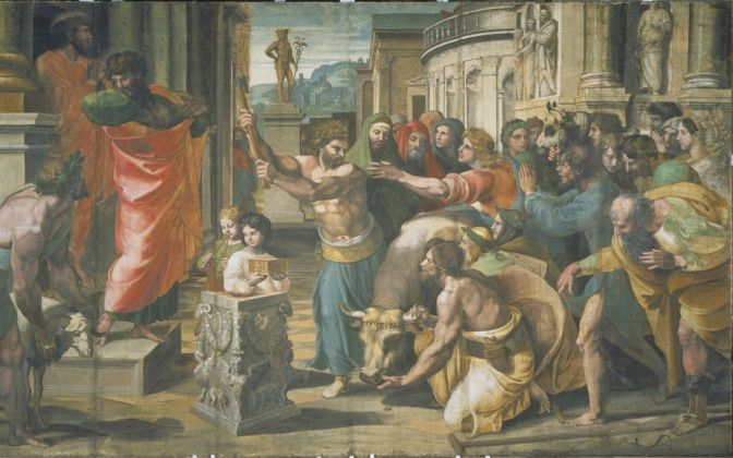 Raphael Cartoon,The Sacrifice at Lystra. Photo (c) V&A. Courtesy Royal Collection Trust Her Majesty Queen Elizabeth II 2021