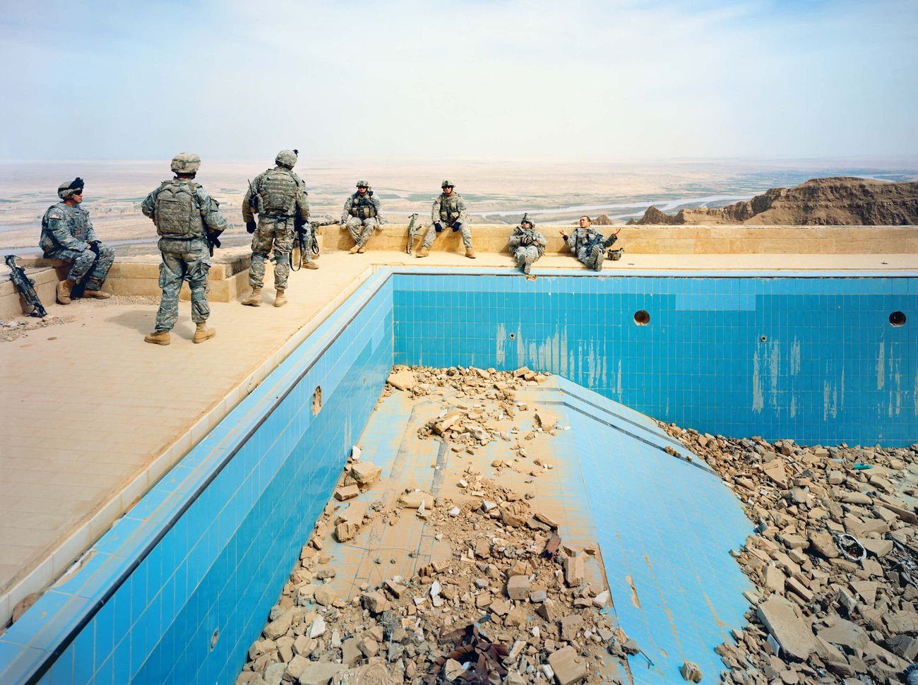 Richard Mosse, Pool at Uday's Palace, Salah a Din Province, Iraq, 2009. Courtesy of the artist & Jack Shainman Gallery, New York © Richard Mosse