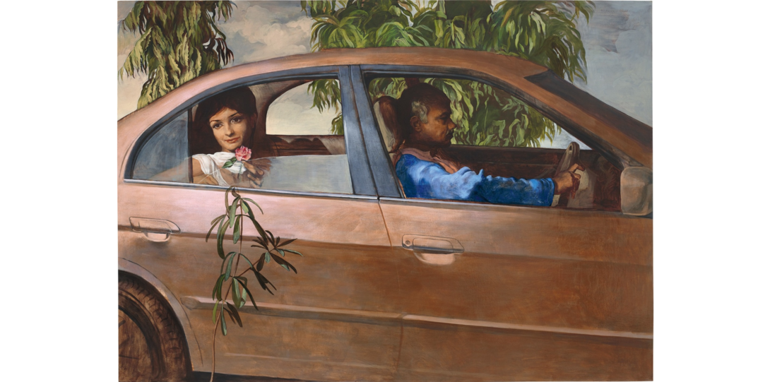 Salman Toor Girl with Driver (2013) Courtesy of Phillips
