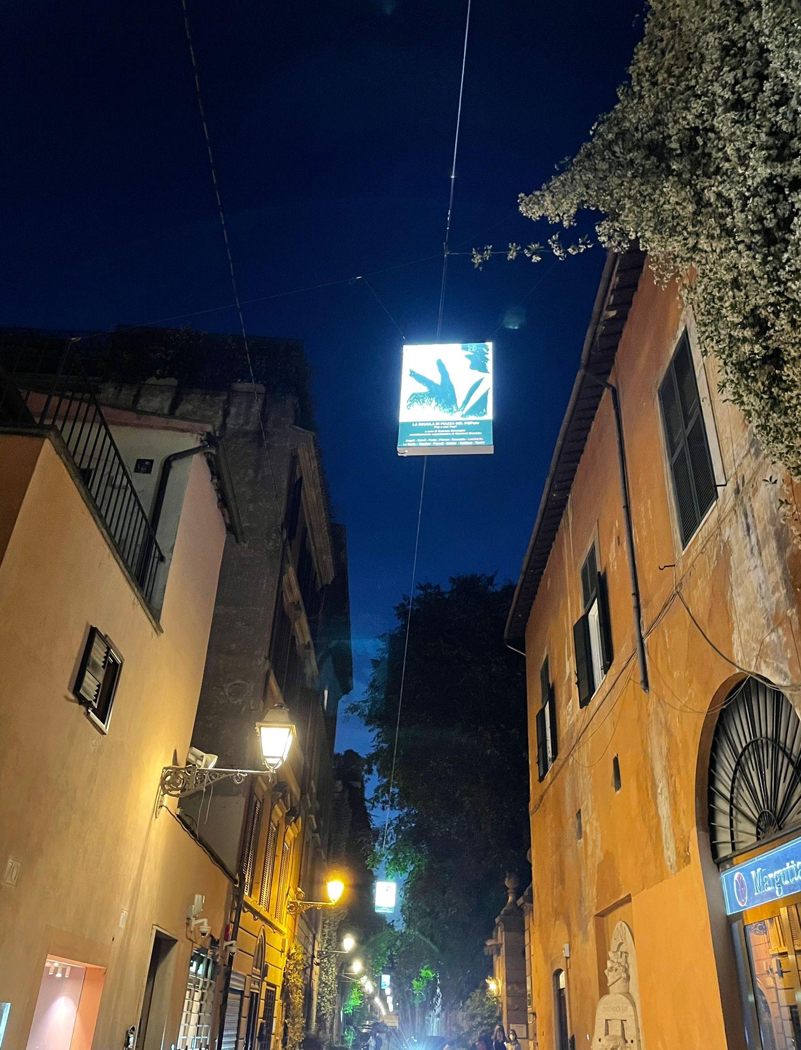 Scuola di piazza del Popolo, lightbox in via Margutta