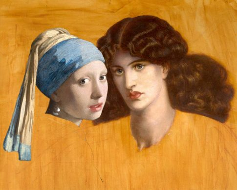 Spotted! Dante Gabriel Rossetti, The Lady of Pity, 1879. Johannes Vermeer, Girl with a Pearl Earring, 1665. Courtesy Claudia Storelli