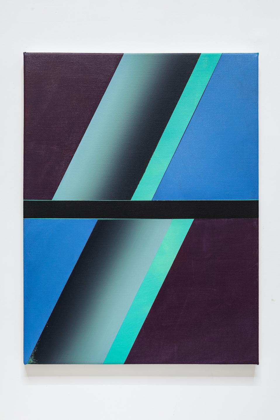 Stanislao Di Giugno, Fuga n. 5, 2020 21, acrylic on canvas, cm 40x30. Courtesy l'artista & Galleria Tiziana Di Caro. Photo Danilo Donzelli