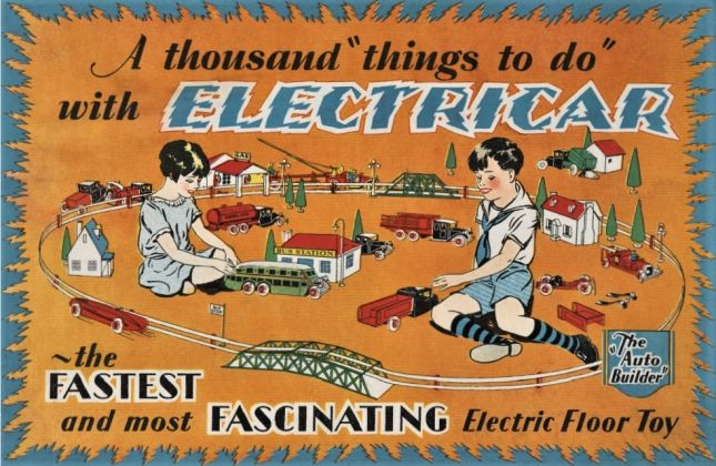 Steven Heller & Jim Heimann ‒ Toys. 100 Years of All American Toy Ads (Taschen, Colonia 2021). Electricar, 1927