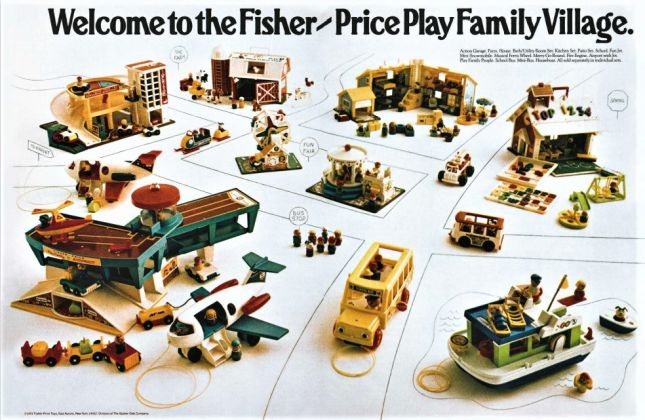 Steven Heller & Jim Heimann ‒ Toys. 100 Years of All American Toy Ads (Taschen, Colonia 2021). Fisher Price, 1972