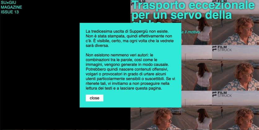 Suppergiù #13. This magazine does not exist