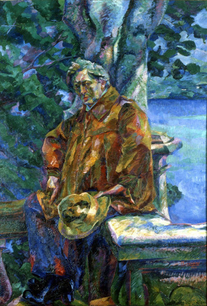 Umberto Boccioni, Ritratto del Maestro Busoni, 1916. Roma, Galleria Nazionale d'Arte Moderna e Contemporanea