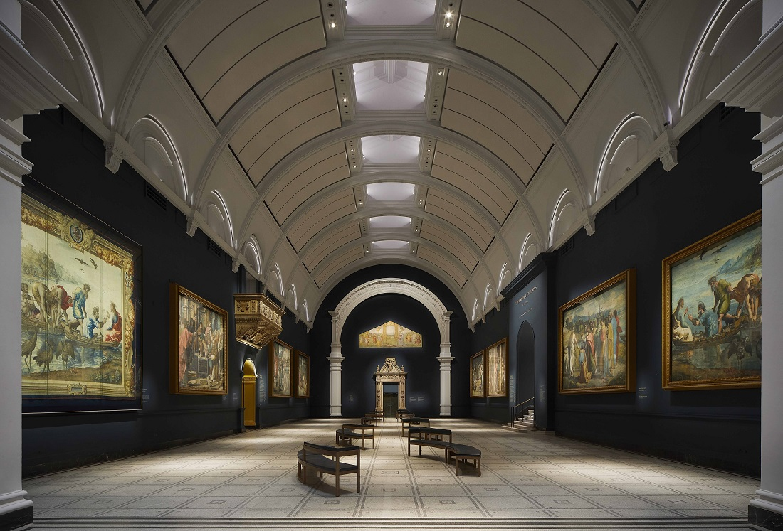 View of refurbished Raphael Court at the V&A, 2021. (c)Hufton+Crow