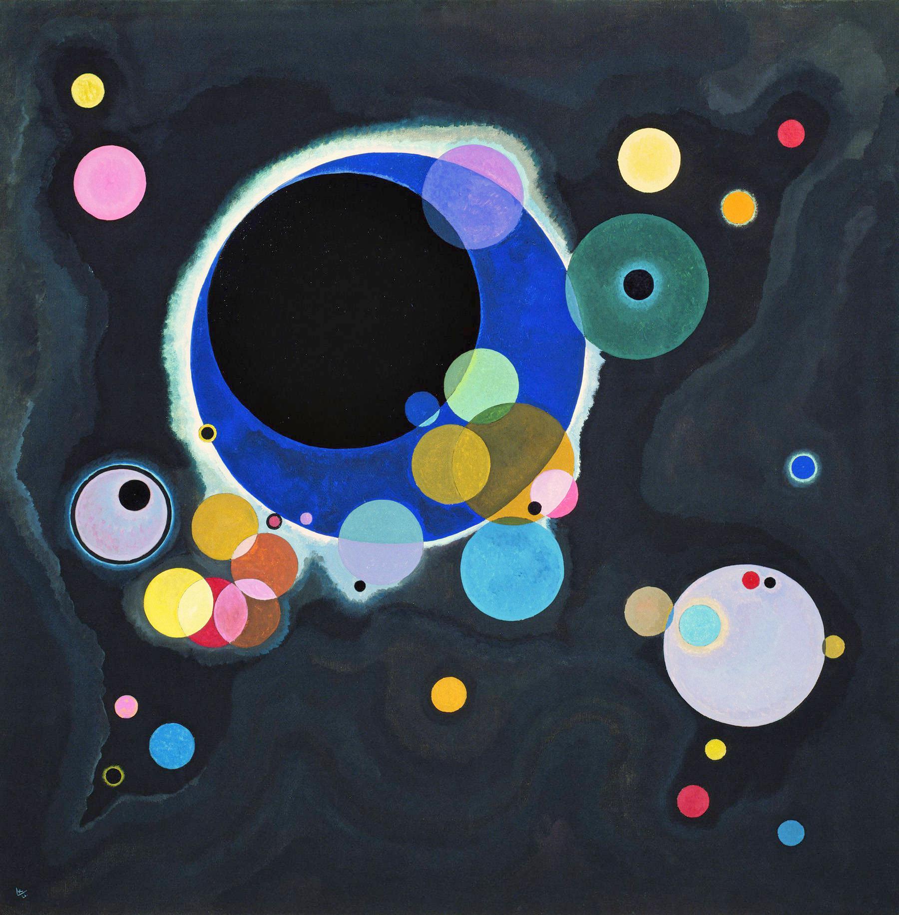 Wassily Kandinsky, Alcuni cerchi, 1926
