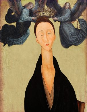 What could be a modern time Virgin? Gerard David, Virgin crowned by two angels, 1520. Amedeo Modigliani, Portrait of Lunia Czechowska, 1919. Courtesy Claudia Storelli