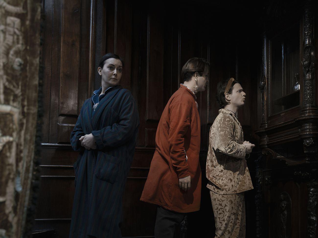 da sx Francesca Borriero, Ivan Iuliucci, Nicola Conforto ne 'Il Lucernario' © Sara Terracciano