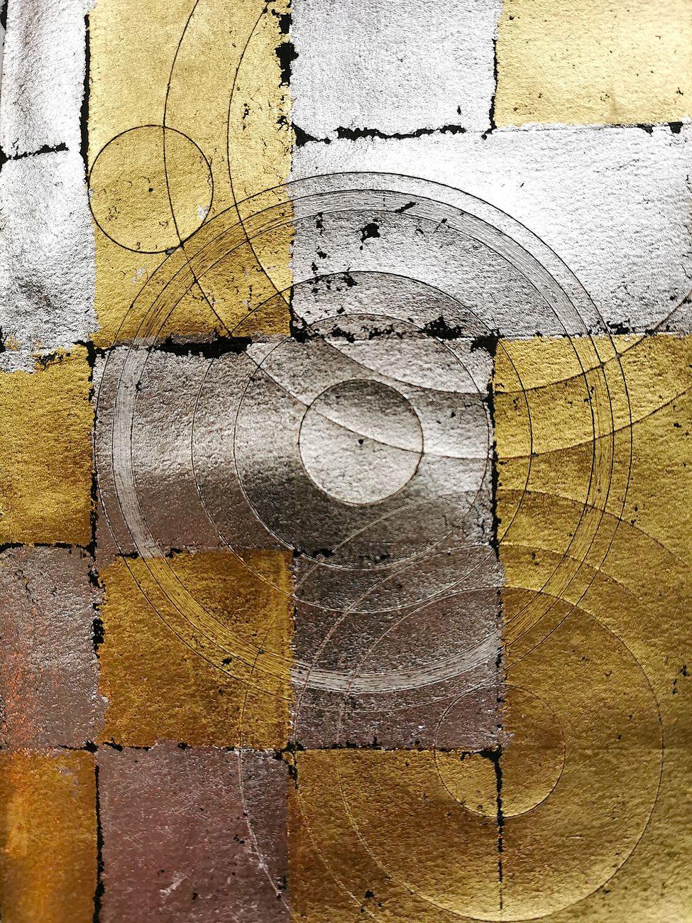 Alfredo Pirri, Studio per il primo bozzetto di Paradiso con Nanou, 2021, acquerello, argento e oro su carta