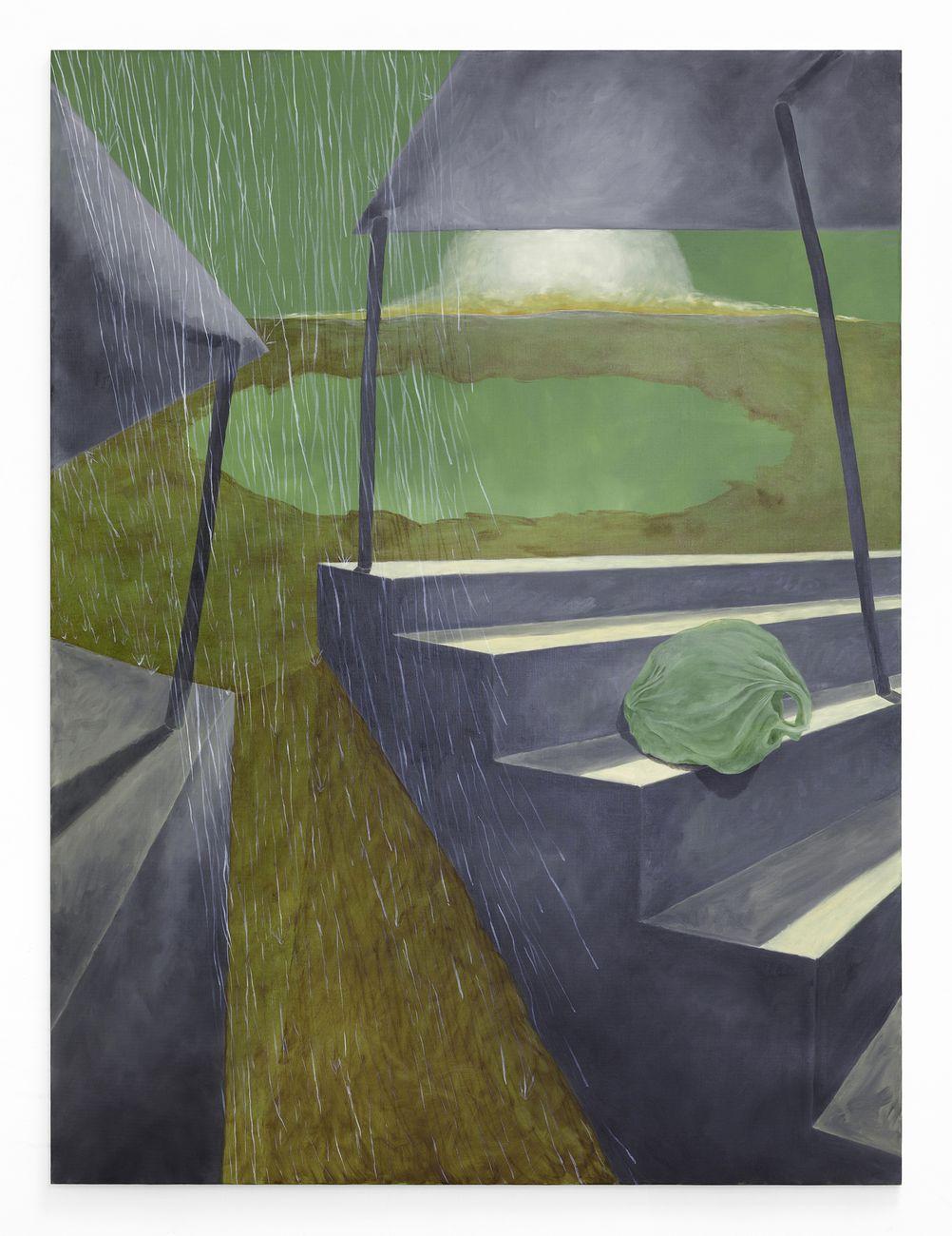 Andrea Respino, Fottuto Eden IV, 2020, olio su tela, 200 x 150 cm. Photo Cristina Leoncini