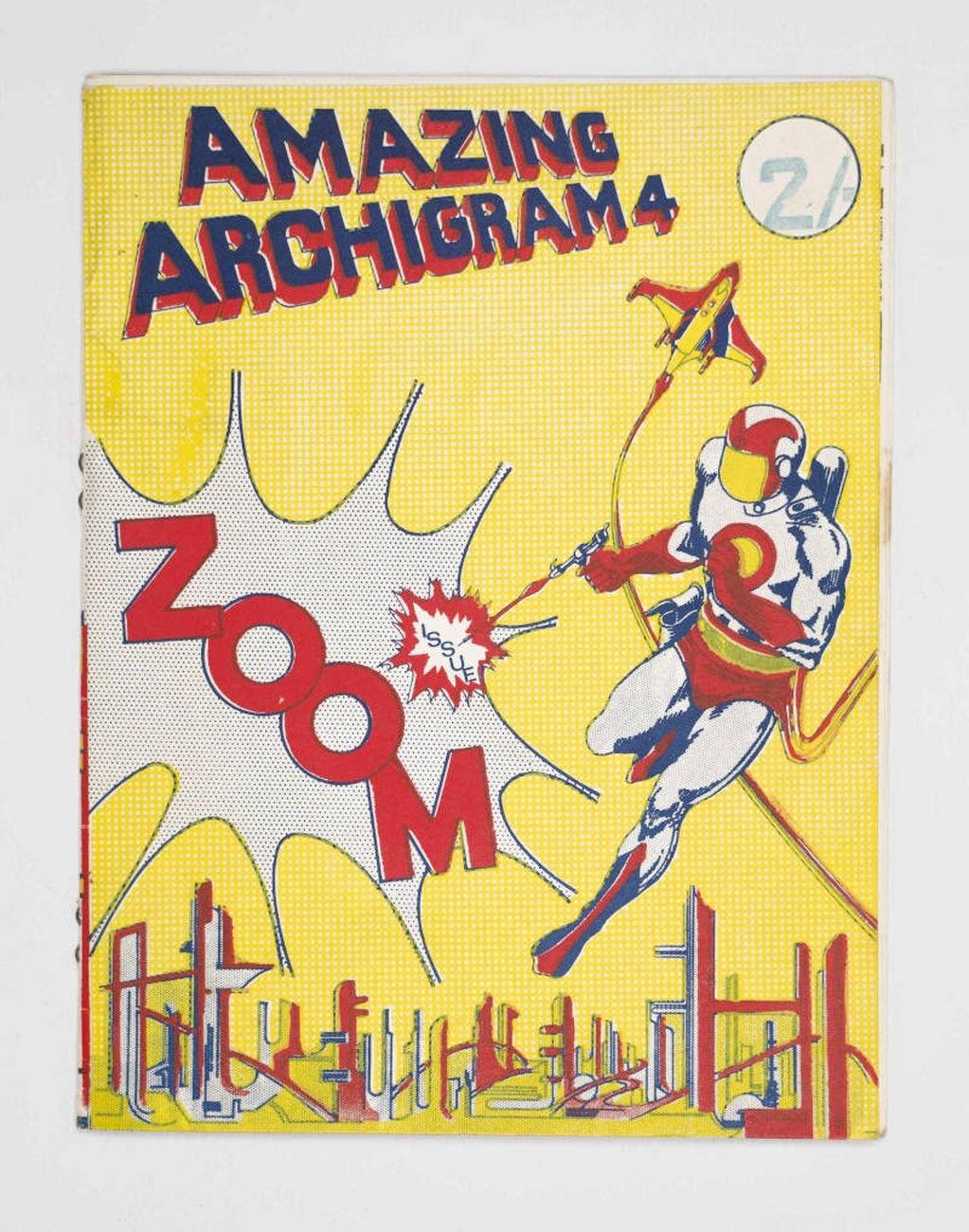 Archigram, 1964, numero 4 della rivista diretta da Peter Cook a Londra, testo a stampa, 22x17 cm. Milano, Collezione Italo Rota
