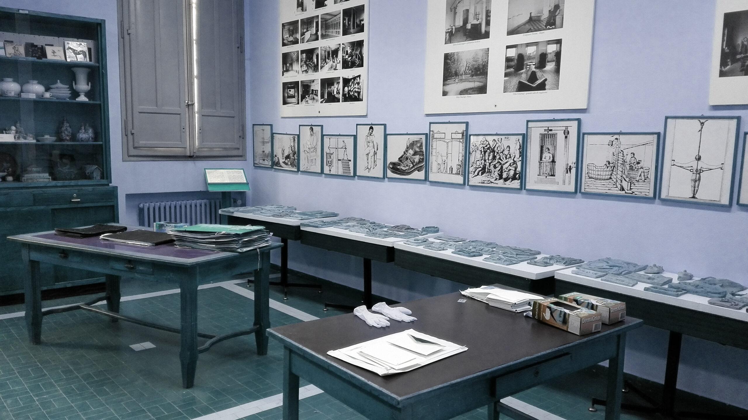 Christian Fogarolli, ricerca e studio presso l'archivio dell'ospedale di San Lazzaro, Reggio Emilia