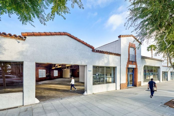 Exterior view, the site of Hauser & Wirth West Hollywood, Courtesy Hauser & Wirth. Photo Elon Schoenholz Photography © 2021
