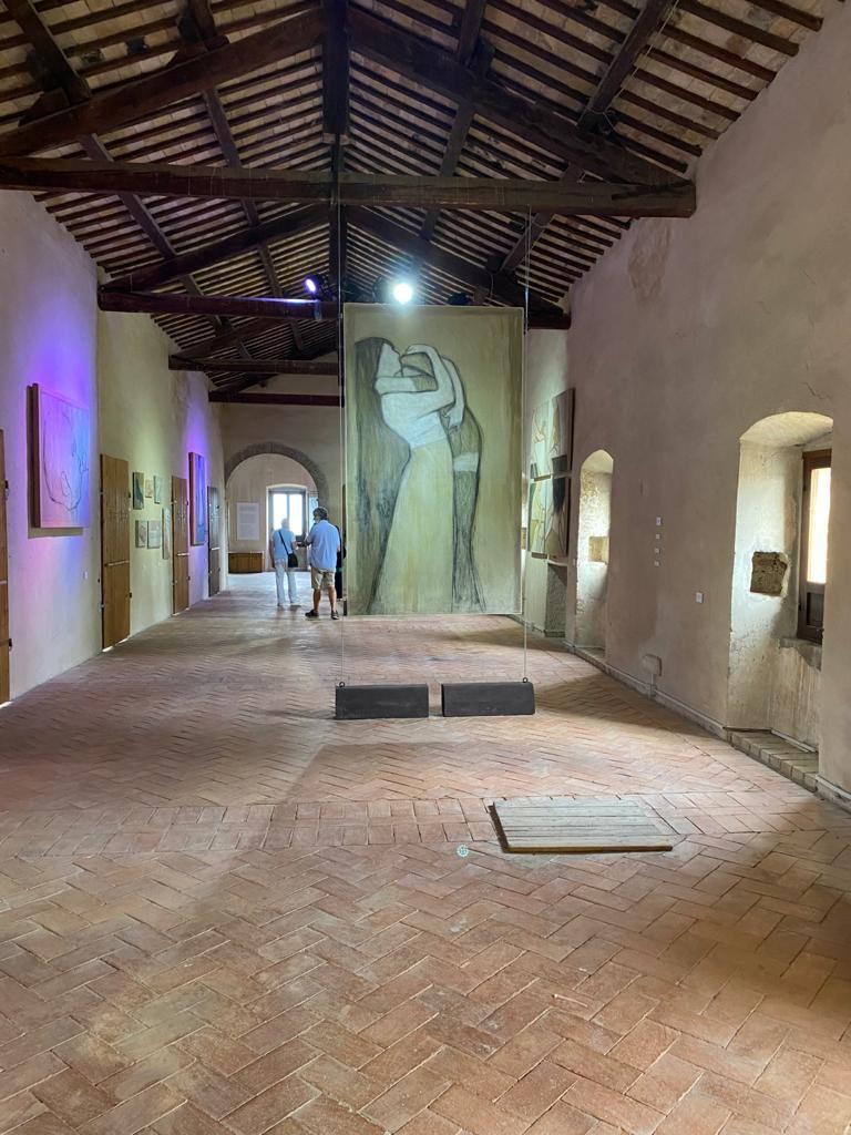 Fabrizio Sannicandro, Vite, 2021, installation view at Abbazia di Propezzano (TE)