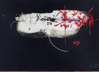 Georges Mathieu Composition (1959) Courtesy of Mediartrade
