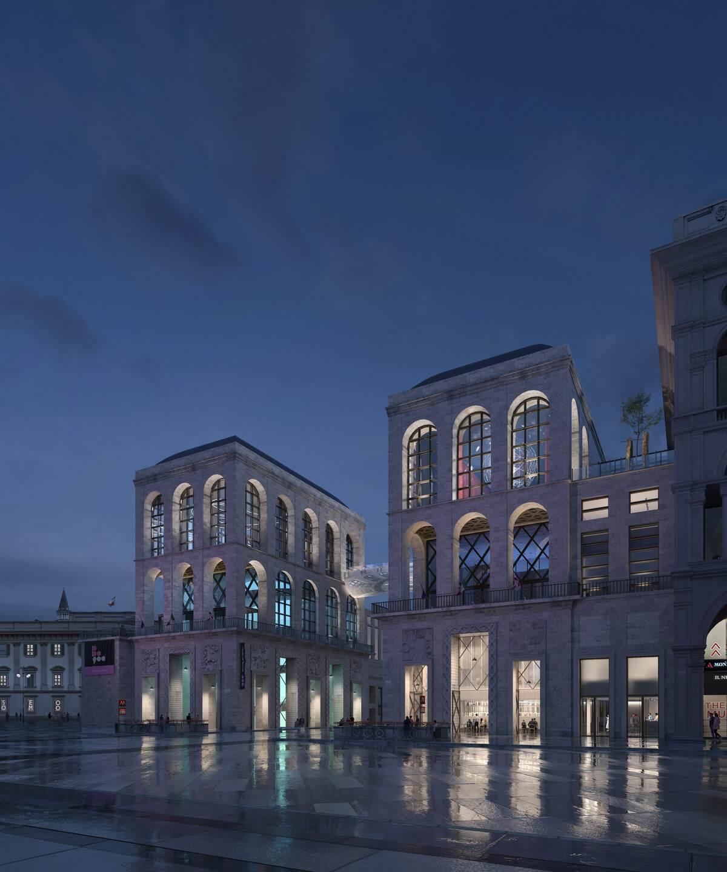 Il Museo del Novecento di Milano nel progetto vincitore del Concorso Internazionale di ProgettazioneNovecentopiùcento Credits LEVEL Creative Studio