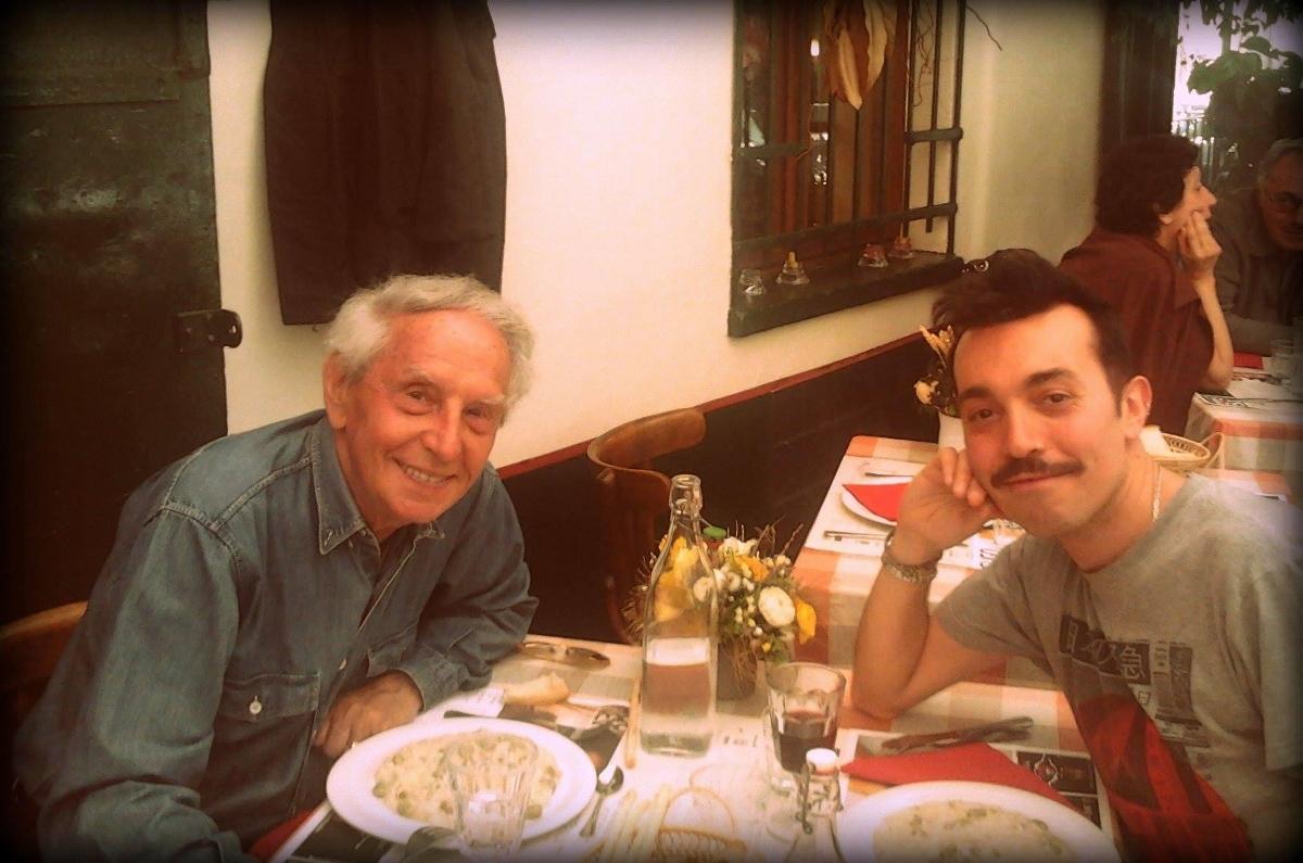 Il gallerista Silvano Gherlone e l'artista Sabatino Cersosimo, courtesy Sabatino Cersosimo