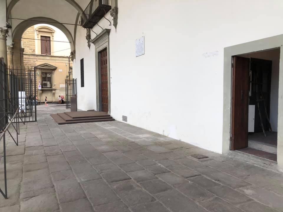 Il loggiato dove sorge la nuova caffetteria del Museo Novecento di Firenze