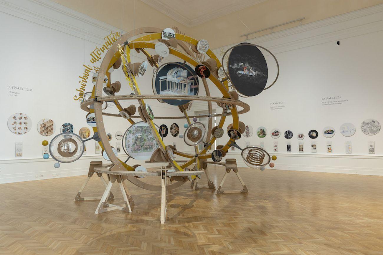 Izaskun Chinchilla. Cosmowomen. Installation view at La Galleria Nazionale, Roma 2021. Photo Monkeys Video Lab