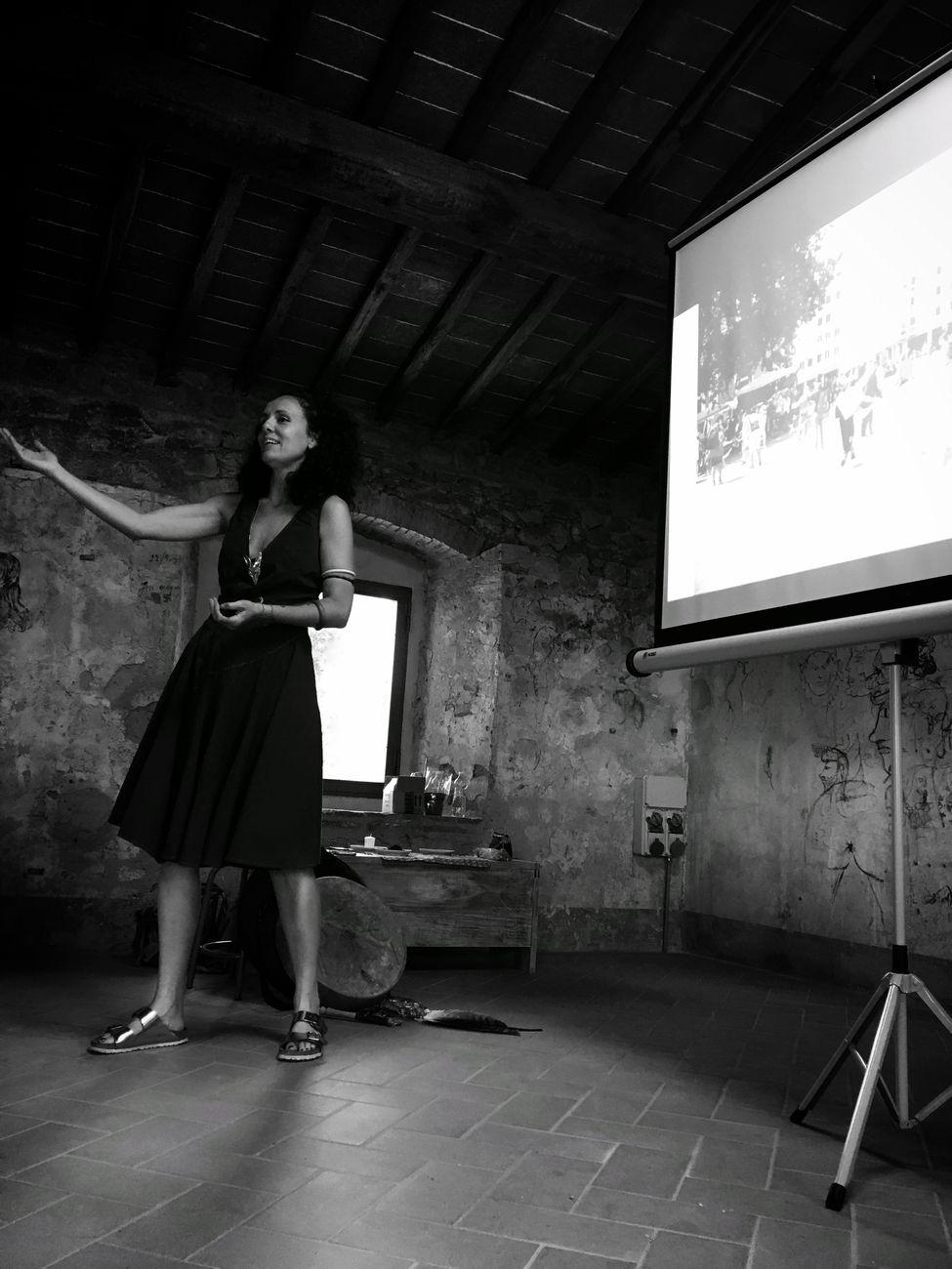 Laura Cionci, workshop Speculare dentro, Fornace del Museo, Montelupo Fiorentino, 10 luglio 2021. Photo Emanuela Barilozzi Caruso