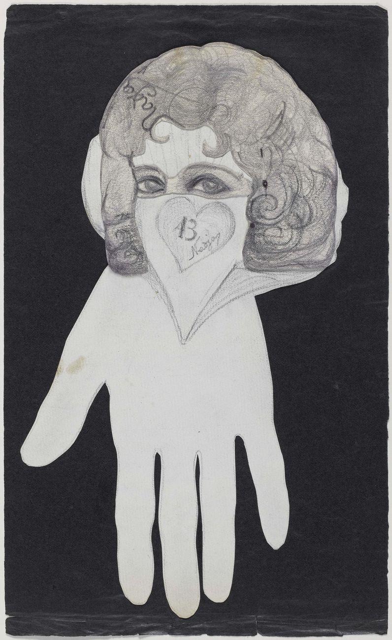 Léona Delcourt (dite Nadja), Un regard d'or de Nadja, 1926. Parigi, Centre Pompidou © Centre Georges Pompidou
