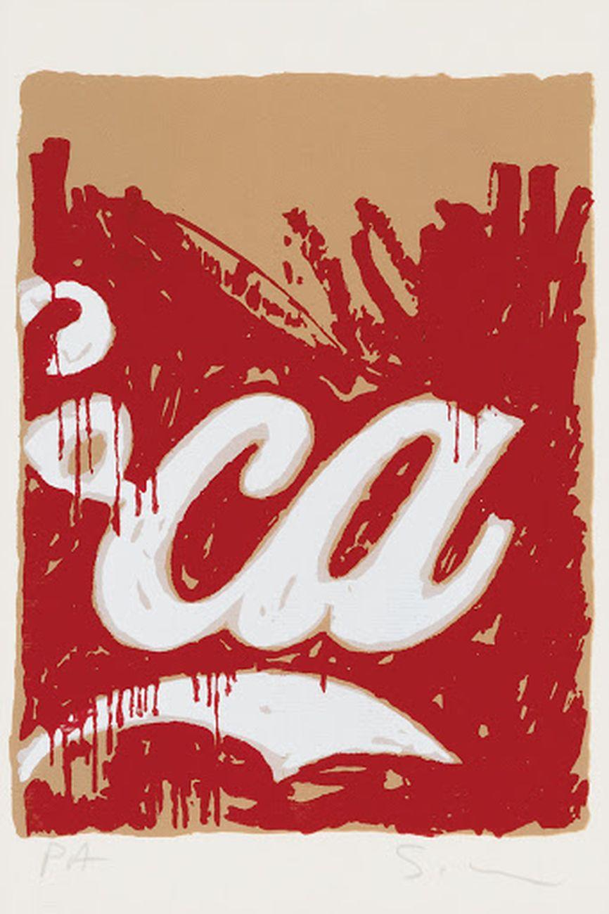 Mario Schifano, Coca Cola, 1980 81, serigrafia a colori. Courtesy Minerva Auctions