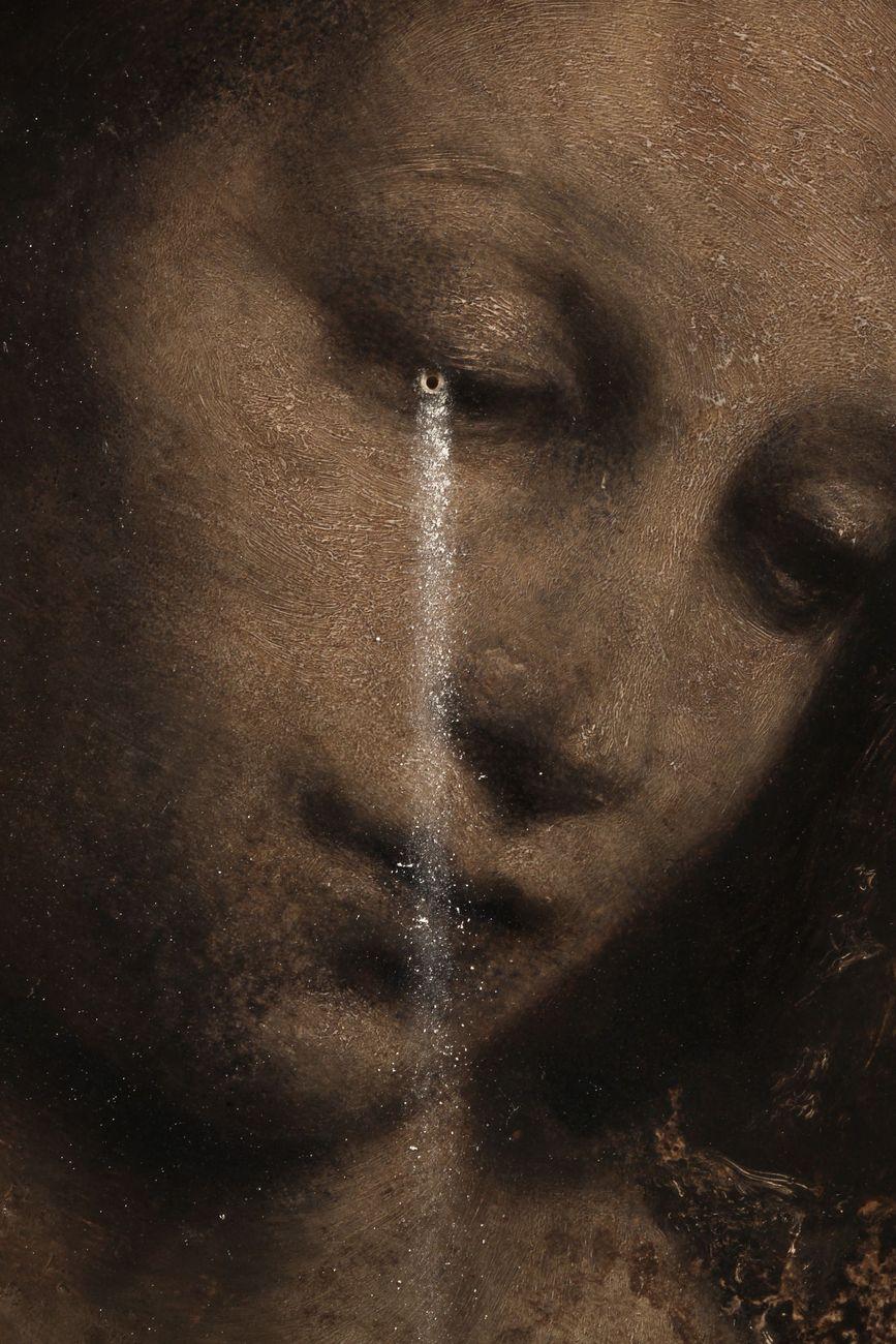 Nicola Samorì, Clessidra (particolare), 2020, olio su onice, 40x30 cm. Courtesy l'artista, Monitor & Galerie Eigen+Art