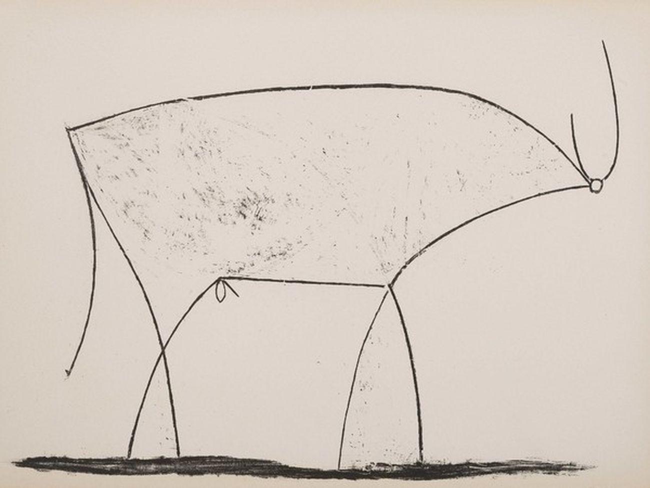 Pablo Picasso, Le taureau, 1945, litografia