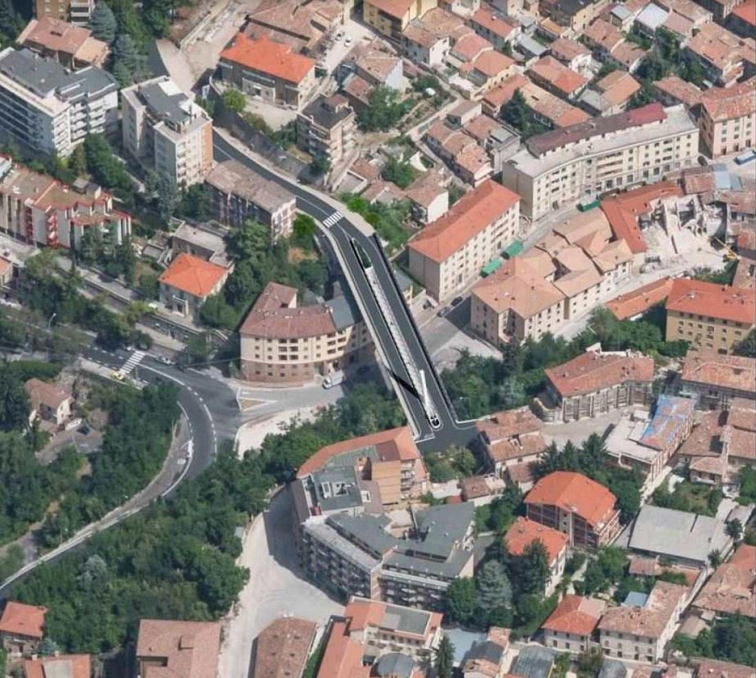 Progetto del ponte Belvedere all'Aquila