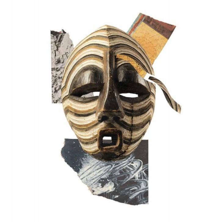Roberto Rossini, BLM #11, collage di materiali cartacei, 2020
