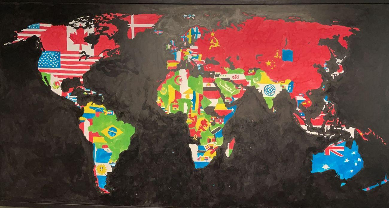 Una delle mappe di Alighiero Boetti. Courtesy Felice d'Alfonso del Sordo