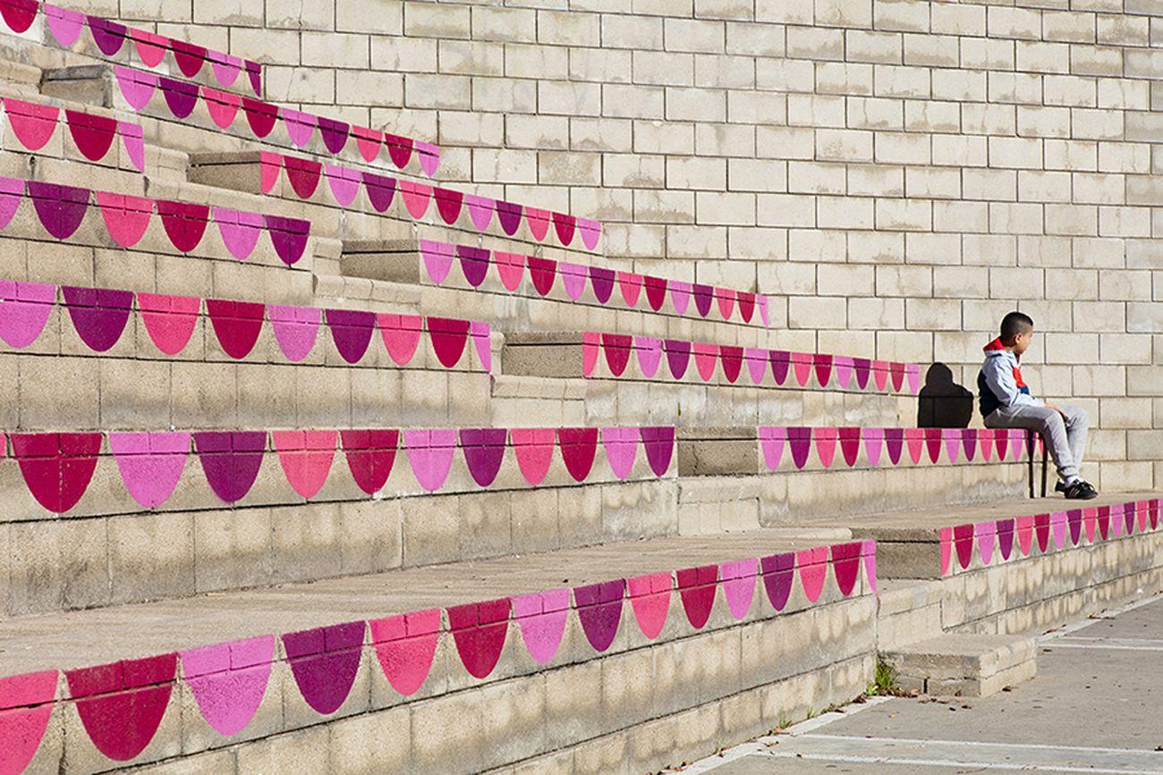 unparelld'arquitectes, Dressing up the Square, Olot. Photo © La Comarca d'Olot